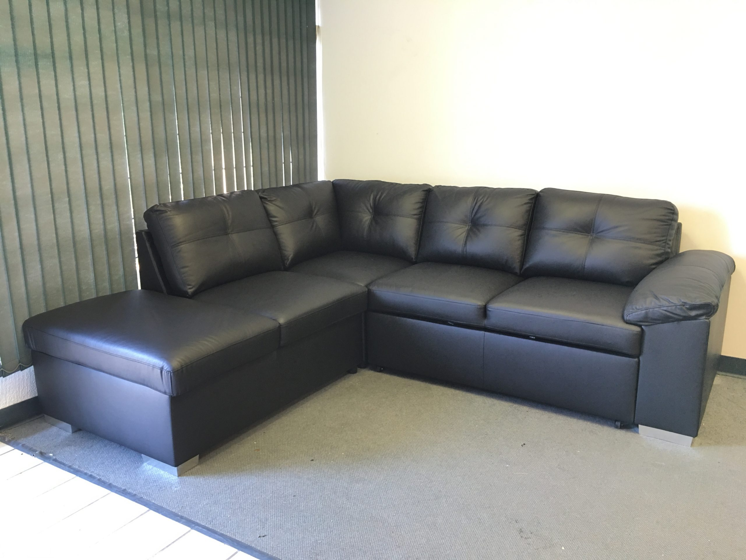 Real Leather Sectional Sofa Bed 1407b   Quality West ...